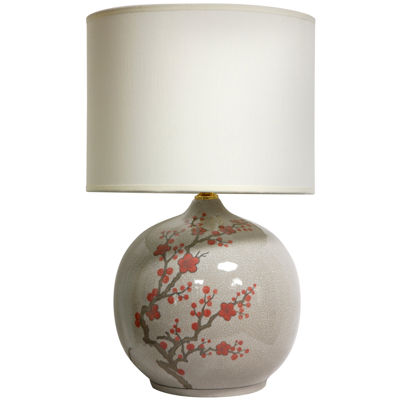"Oriental Furniture 20"" Cherry Blossom Vase Table Lamp"""