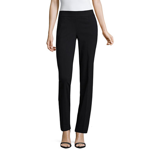 Liz Claiborne Women's Classic Fit Secretly Slender Pull-On Pants