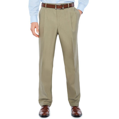 Stafford Mens Classic Fit Pleated Pants