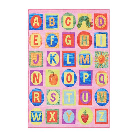 Eric Carle Elementary Alphabet Blocks Graphic/Print Rectangular Rug