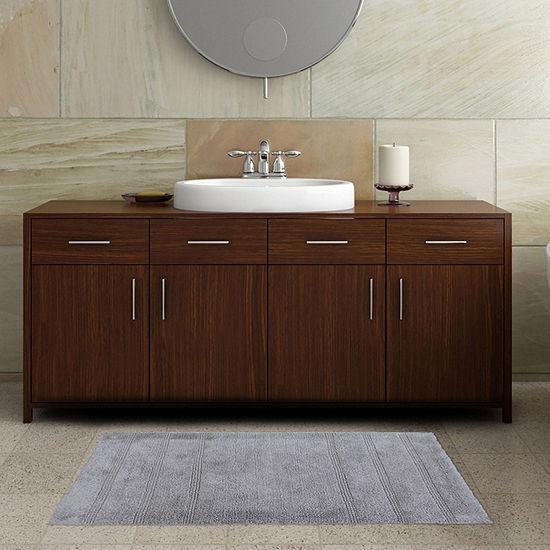 """Nicole Miller Newton Textured Stripe 2-Piece Bath Rug Set 17""""X24""""; 21""""X34"""""""