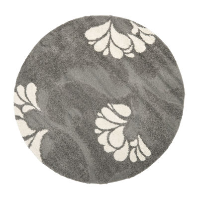 Safavieh Shag Collection Emmett Geometric Round Area Rug