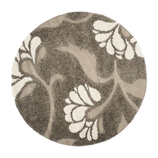 Safavieh Shag Collection Emmett Geometric Round Area Rug