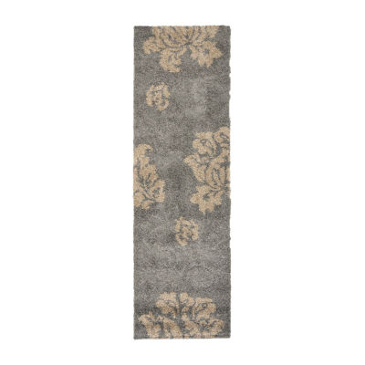 Safavieh Shag Collection Eric Geometric Runner Rug