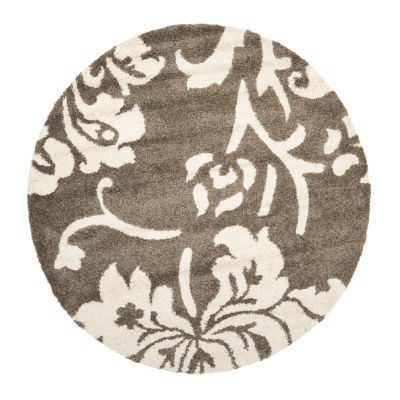 Safavieh Shag Collection Eric Geometric Round Area Rug