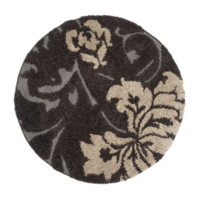 Safavieh Shag Collection Eric Geometric Round Area Rug