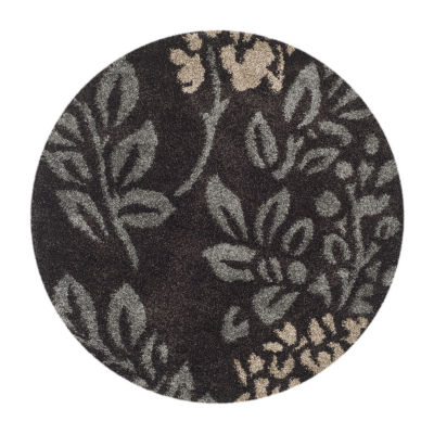 Safavieh Shag Collection Erica Geometric Round Area Rug