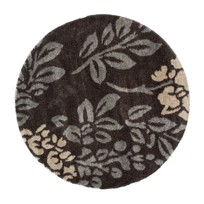 Safavieh Shag Collection Erica Geometric Round Area Rug