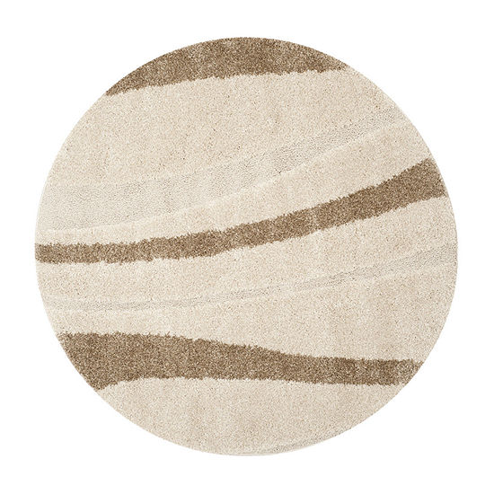 Safavieh Shag Collection Kimmee Abstract Round Area Rug