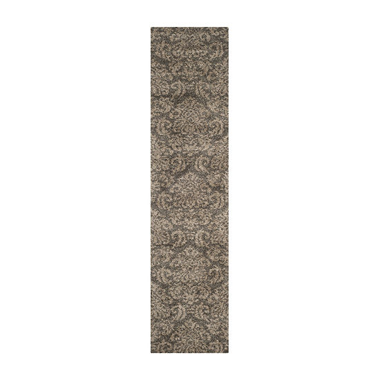 Safavieh Shag Collection Mario Damask Runner Rug