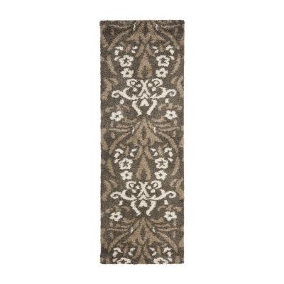 Safavieh Shag Collection Tristen Floral Runner Rug