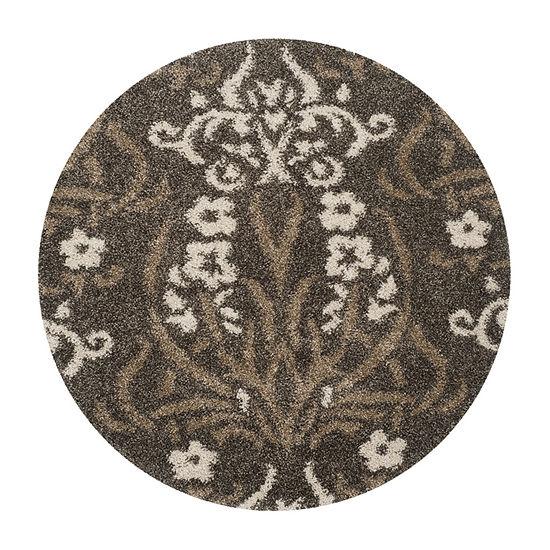 Safavieh Shag Collection Tristen Floral Round Area Rug