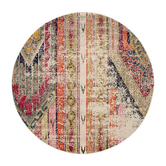 Safavieh Monaco Collection Cedric Abstract Round Area Rug