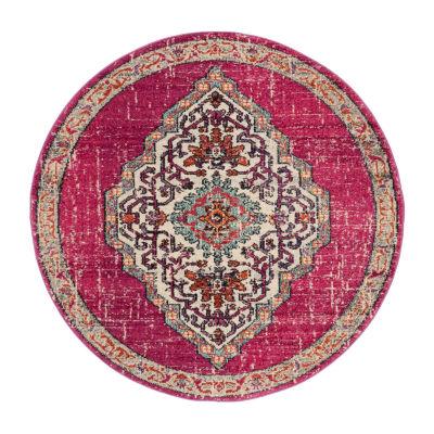 Safavieh Monaco Collection Ilean Oriental Round Area Rug