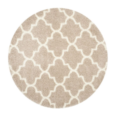 Safavieh Montreal Shag Collection Shelby Geometric Round Area Rug