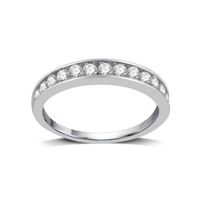 1/2 CT. T.W. Diamond 10K White Gold Band