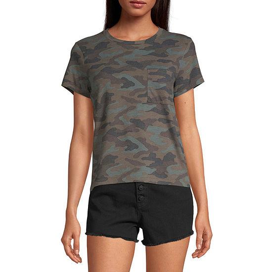 Arizona Juniors Freeform-Womens Round Neck Short Sleeve T-Shirt