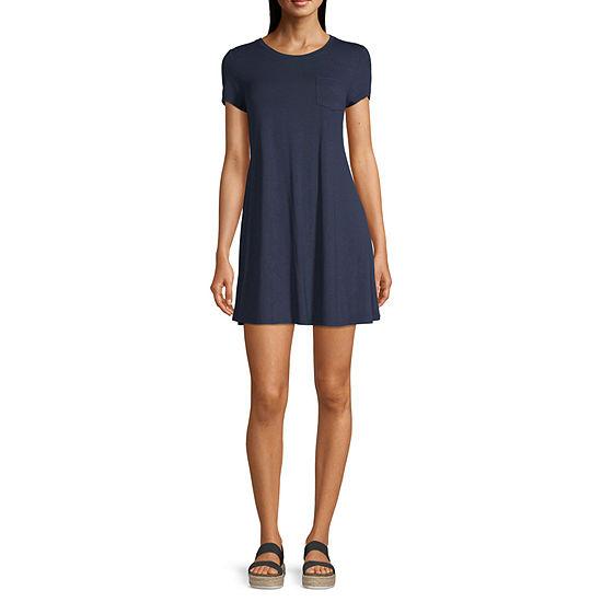 Arizona-Juniors Freeform Short Sleeve Swing Dresses