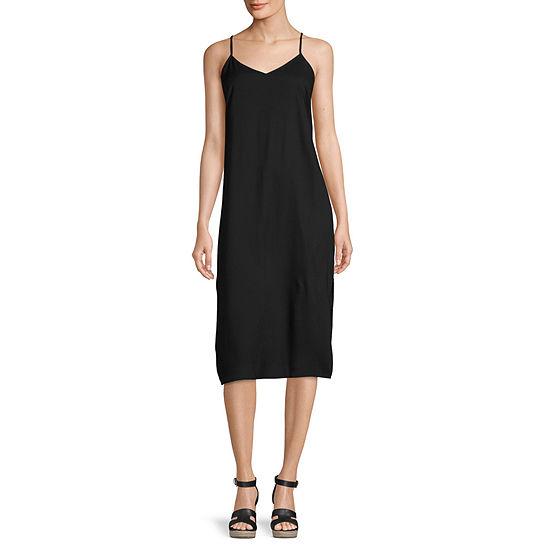 Arizona Sleeveless Midi Slip Dress-Juniors