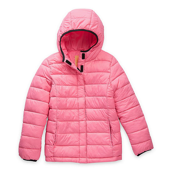 Thereabouts Little & Big Girls Adaptive Hooded Packable Midweight Puffer Jacket
