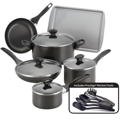 Farberware® 15-pc. Dishwasher Safe Nonstick Aluminum Cookware Set