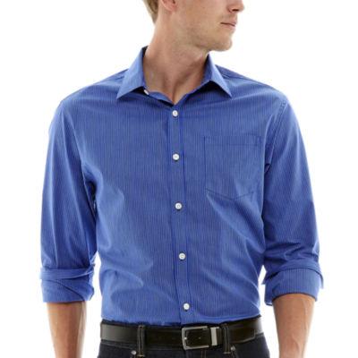 Claiborne® Long-Sleeve Thin-Striped Woven Shirt