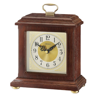 Seiko Cream Table Clock-Qxg147blh