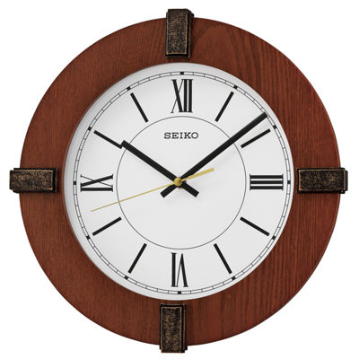 Seiko Wooden Wall Clock Qxa666blh