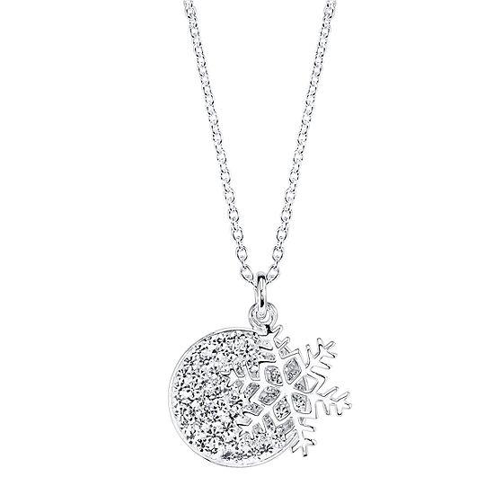 Sparkle Allure Crystal Cable Pendant Necklace