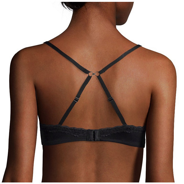 Flirtitude® My Fave Tee Lace-Front Framing T-Shirt Bra
