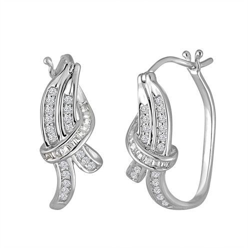 1/3 CT. T.W. White Diamond 10K Gold Drop Earrings