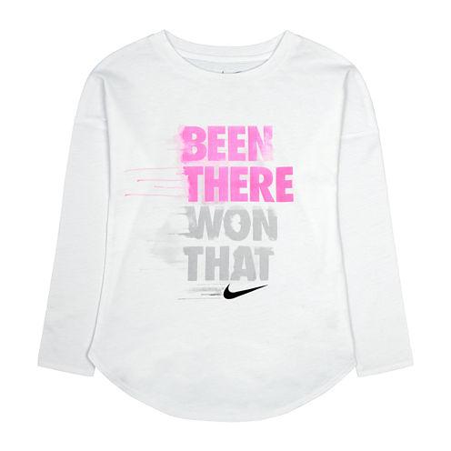Nike® Long-Sleeve Been There Won That Tee - Preschool Girls 4-6x