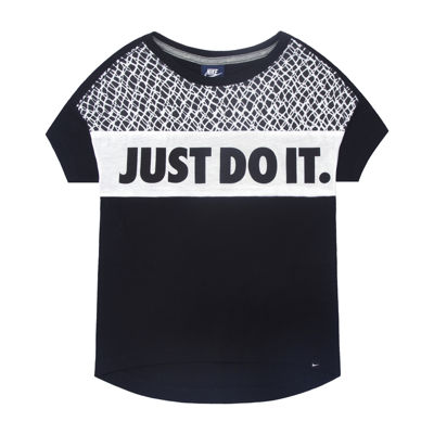 Nike® Short-Sleeve Just Do It Knit Top - Preschool Girls 4-6x