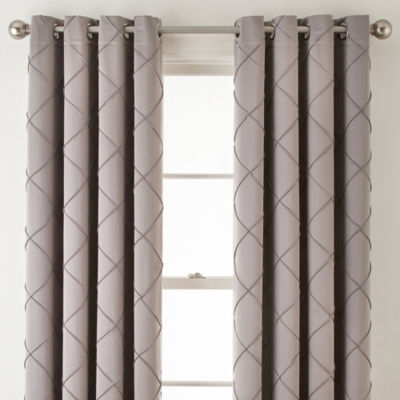 Liz Claiborne® Kathryn Diamond Pleated Grommet Top Curtain Panel