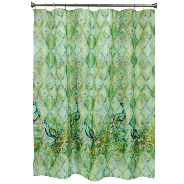 Bacova Guild Peacock Shower Curtain