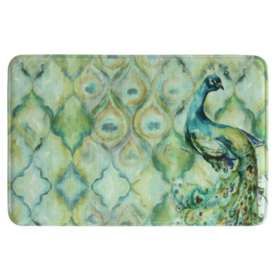 Bacova Guild Peacock Bath Rug