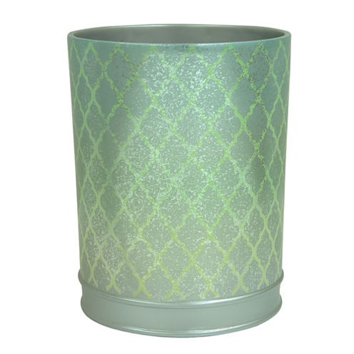 Bacova Guild Peacock Wastebasket