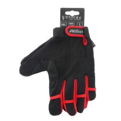 Ventura Unisex Bike Red Full Finger Touch Gloves