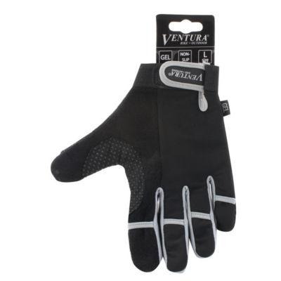 Ventura Unisex Bike Gray Full Finger Touch Gloves