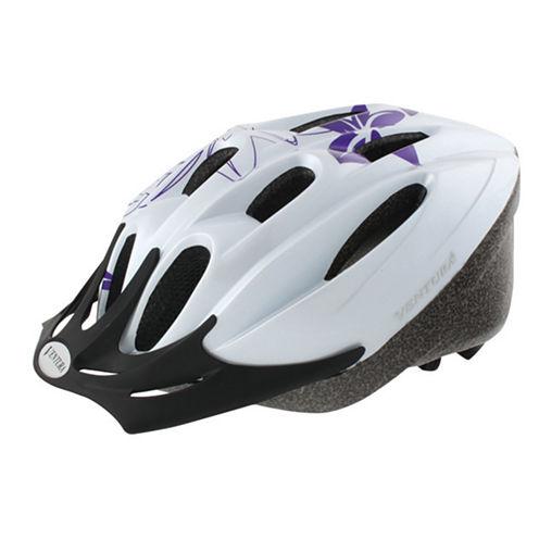 Ventura White Flower Sport Helmet