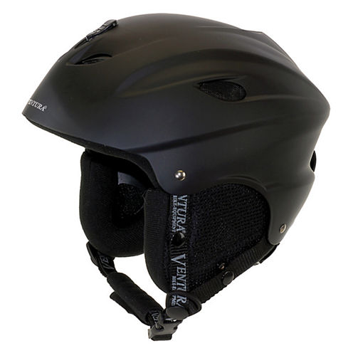 Ventura Black Skiing/Snowboarding Youth Helmet