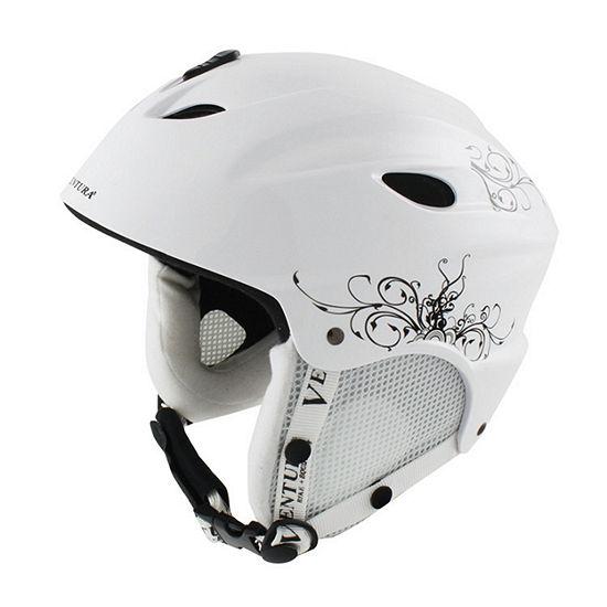 Ventura White Skiing/Snowboarding Youth Helmet