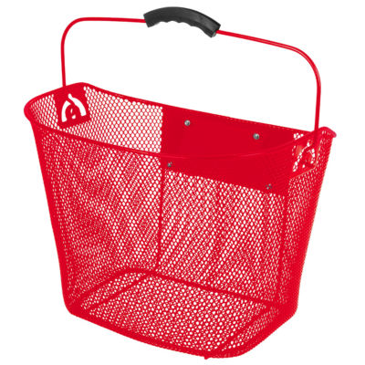 Ventura Unisex Quick Release Red Wire Basket
