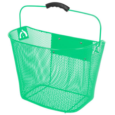 Ventura Unisex Quick Release Green Wire Basket