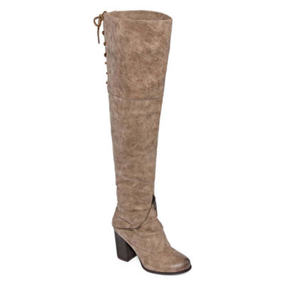 2 Lips Too Logan Womens Over the Knee Boots Wide