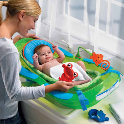 fisher price rainforest baby bath tub jcpenney. Black Bedroom Furniture Sets. Home Design Ideas