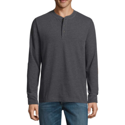 St. John's Bay Long Sleeve Henley Shirt