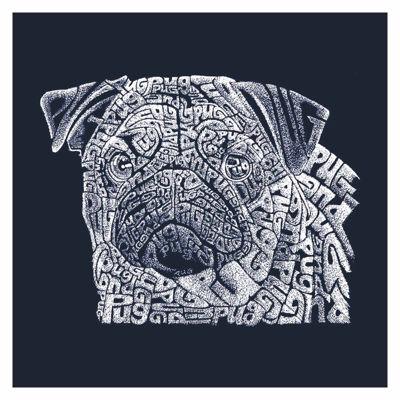 Los Angeles Pop Art Word Pug Short Sleeve GraphicWord Art T-Shirt