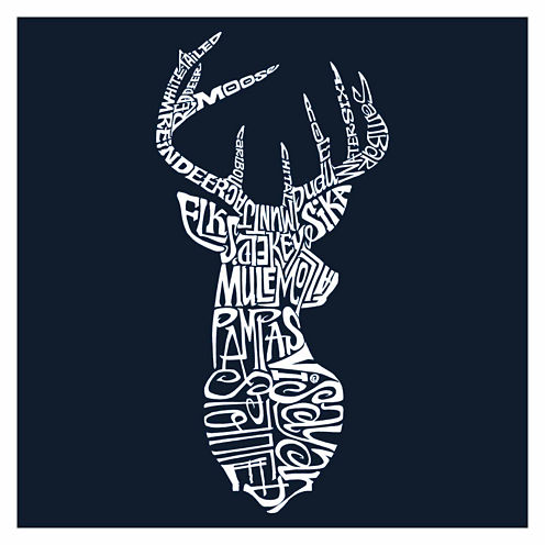Los Angeles Popular Types Of Deer Short Sleeve Graphic T-Shirt