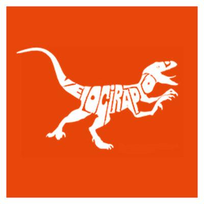 Los Angeles Pop Art Velociraptor Short Sleeve Graphic Word Art T-Shirt